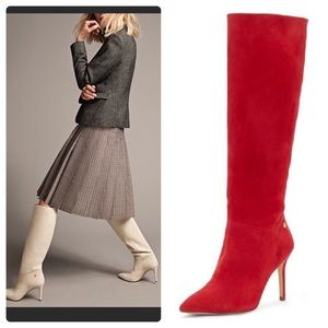 Louise et Cie Sevita Red Stiletto Heel Boots 9.5